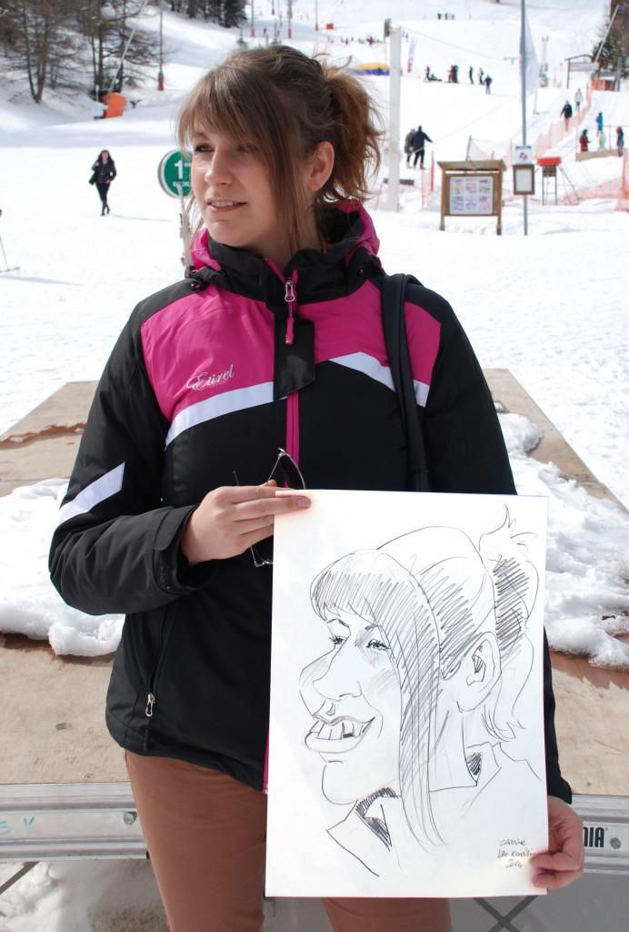 caricature femme en Savoie